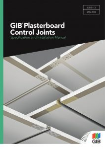 Gib Plasterboard control joints - specification and installation manual PDF