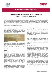 finish and decoration of plasterboard PDF