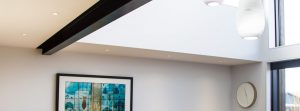 Clean plastering finish ceiling and wall modern home