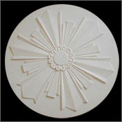 art deco ceiling plaster rose centrepieces