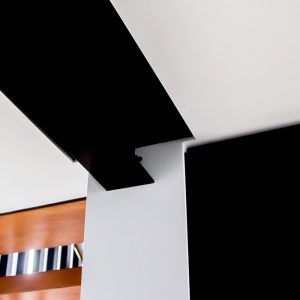 shadow line plastering with steel beam